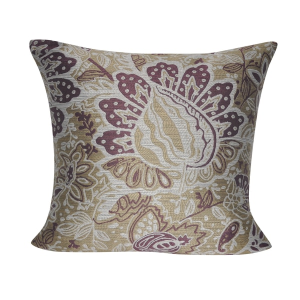 Loom and Mill 22 x 22-inch Paisley Decorative Pillow