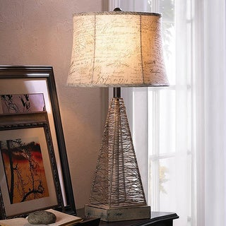 Vintage Wired Base Table Lamp
