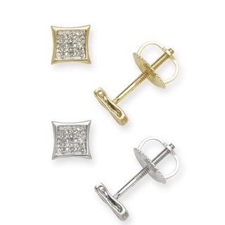 10k Gold Diamond Accent Kite Stud Earrings