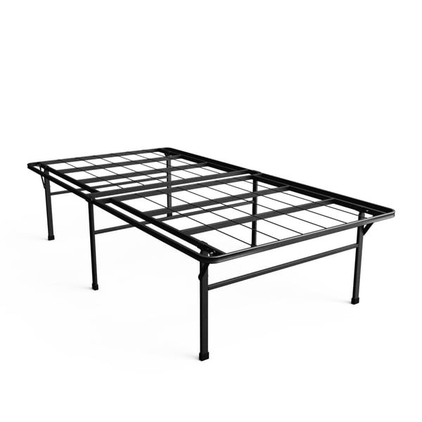 Priage 18-inch High Profile SmartBase Black Platform Bed Frame, Twin XL