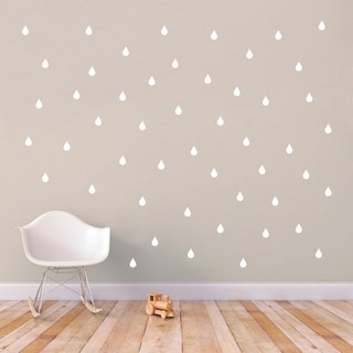 Set of Raindrops Wall Decals