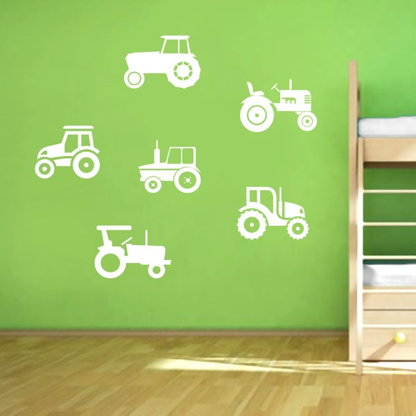 Set of Tractors Small Wall Decals