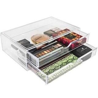 Acrylic X-Large 2 Drawer Makeup Organizer
