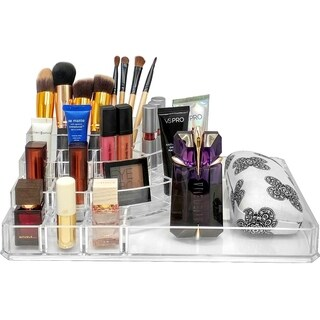 Acrylic X-Large Round Sectional Makeup Organizer