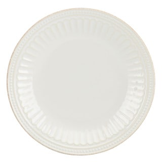 Lenox French Perle Groove White Accent Plate