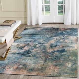 Safavieh Constellation Vintage Watercolor Light Blue/ Multi Viscose Rug (6' 7 x 9' 2)