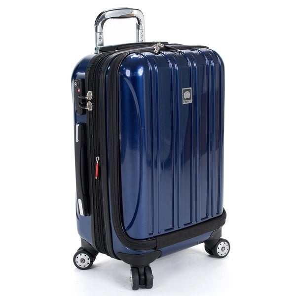 Delsey Helium Aero Cobalt Blue 19-inch International Carry-On Laptop Spinner Suitcase