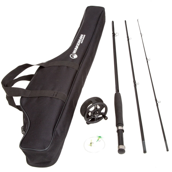 Wakeman Charter Series Fly Fishing Combo with Carry Bag - Black 18252062