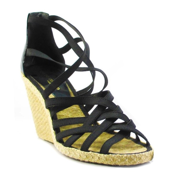 Andre Assous Black Women's Espadrille Sandals Size 10