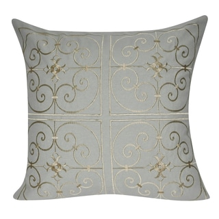 Loom and Mill 21 x 21-inch Iron Work Decorative Throw Pillow
