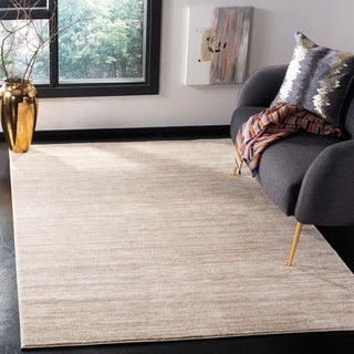 Hand Crafted Solid White Casual Mesa Wool Rug 6 X 9