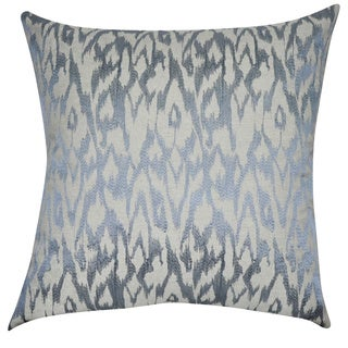 Loom and Mill 21 x 21-inch Ikat Decorative Throw Pillow