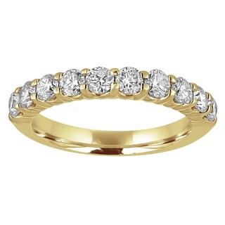 14k Yellow Gold 1ct TDW Diamond Wedding Band (H-I, I1-I2)