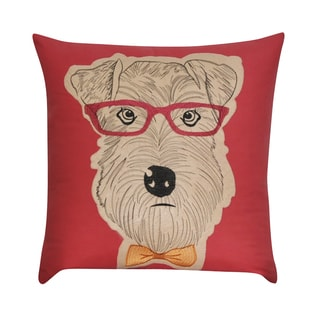 Loom and Mill 22 x 22-inch Schnauzer Decorative Throw Pillow