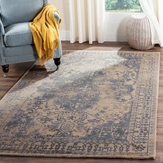Safavieh Handmade Restoration Vintage Blue/ Grey Wool Rug (5' x 8')