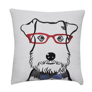 Loom and Mill 22 x 22-inch Schnauzer Decorative Pillow