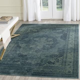 Safavieh Vintage Blue/ Multi Rug (6' 7 x 9' 2)