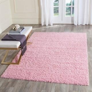Safavieh Athens Shag Pink Rug (5' 1 x 7' 6)