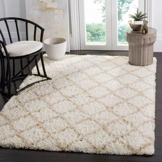 Safavieh Indie Shag Ivory/ Light Beige Polyester Rug (6' 7 x 9' 2)