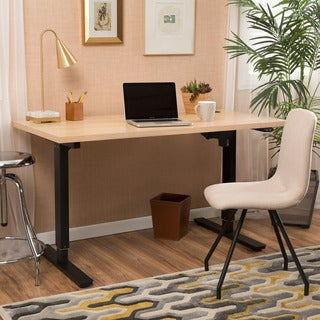 Christopher Knight Home Wendell 58-inch Adjustable Wood Standing Desk with Single Powered Base