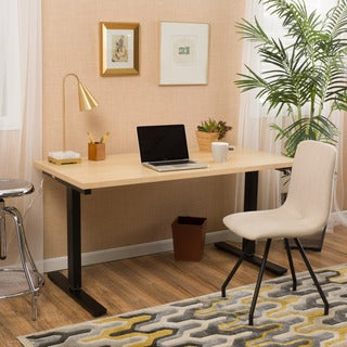 Christopher Knight Home Wendell 58-inch Adjustable Wood Standing Desk with Manual Base