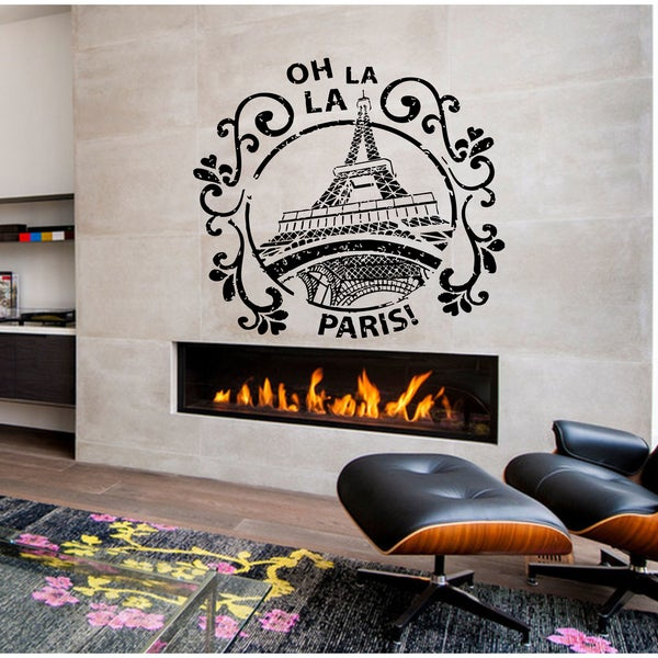 Oh la la Paris Wall Art Sticker Decal