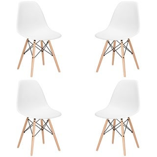 Vortex Side Chair with Natural Legs (Set of 4)