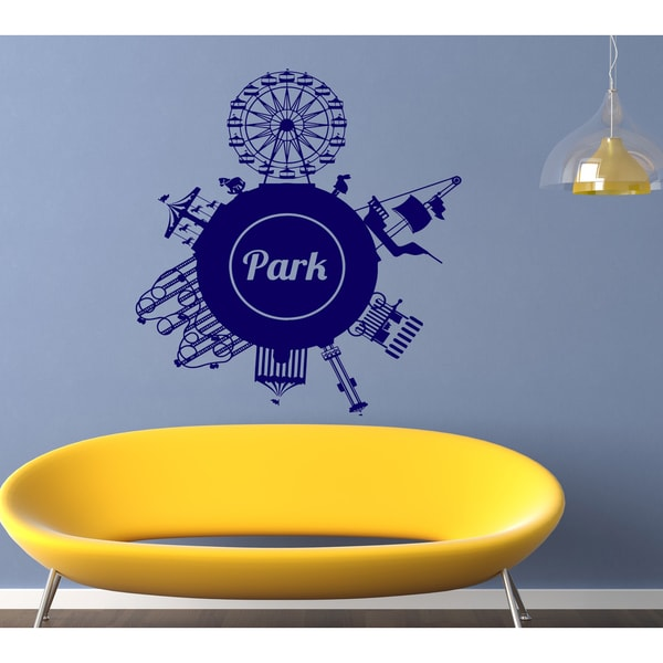Amusement park Wall Art Sticker Decal Blue