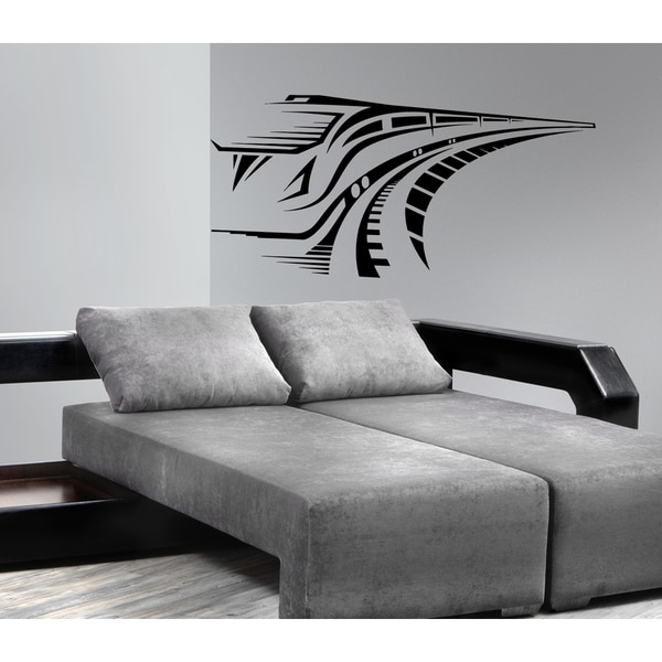 Silhouette of a high-speed train Wall Art Sticker Decal
