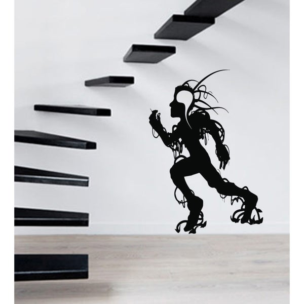 The shadow of a man running Wall Art Sticker Decal