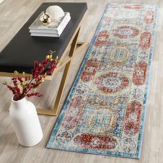 Safavieh Valenica Blue/ Multi Polyester Rug (2' 3 x 12')