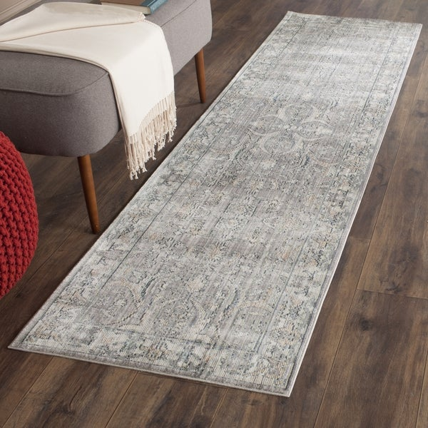 Safavieh Valencia Cream and Mauve Runner (2'3 x 6')