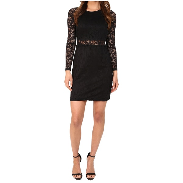 Minkpink First Place Black Lace Mini Dress