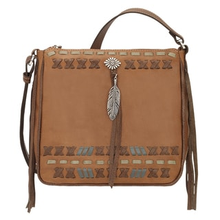American West Mohican Melody Tan Leather Crossbody