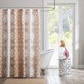 Intelligent Design Raina Printed Orange Shower Curtain