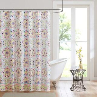 Intelligent Design Hayley Printed Shower Curtain