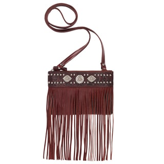 American West Saratoga Red Leather Crossbody