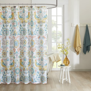 Intelligent Design Mona Printed Shower Curtain