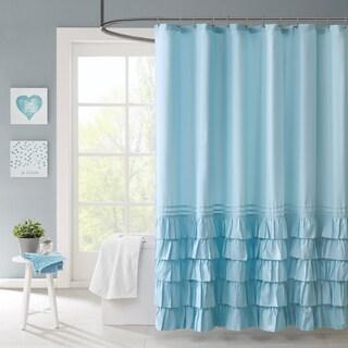 Intelligent Design Kacie Blue Shower Curtain
