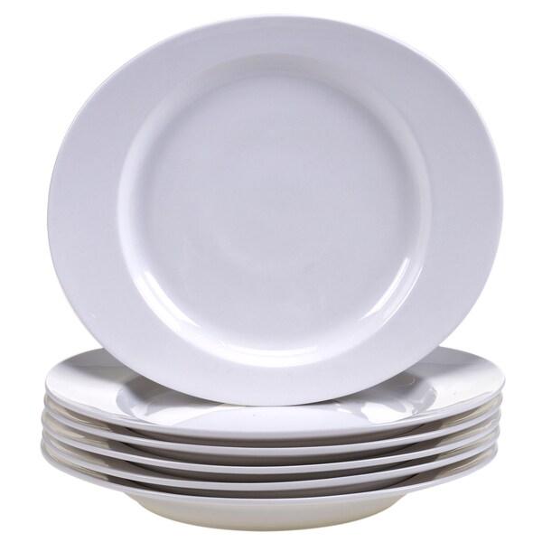 """Certified International Ellipse Porcelain Salad Plate 9.75"""" x 8.5"""" (Set of 6)"""