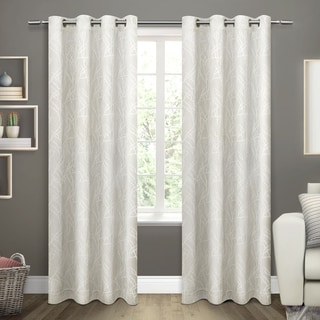 ATI Home Twig Insulated Woven Blackout Window Curtain 84 - 96-inch Length Panel Pair