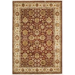 Handmade with Tabriz Design Area Rug (4' x 5' 11)