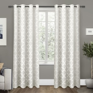 ATI Home Cartago Insulated Woven Blackout Window Curtain 84 - 96-inch Length Panel Pair