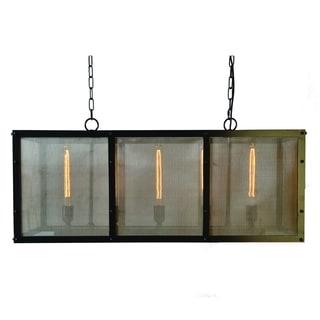 Contempo Antique Black Finish 5-light Chandelier Light Fixture with Gold Accents