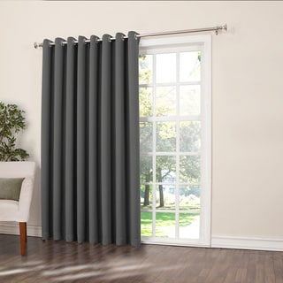 Sun Zero Galia Rod Pocket Room Darkening Patio Door Single Curtain Panel