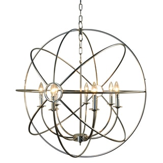 Infinity Orb 7-Light Nickel Plated Finish Orb Chandelier