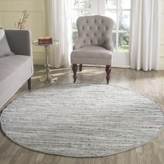 Safavieh Hand-Woven Rag Rug Grey Cotton Rug (8' Round)