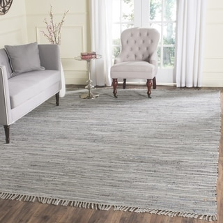Safavieh Hand-Woven Rag Rug Grey Cotton 8 Foot Square Rug