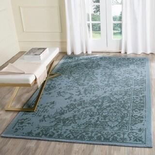 Safavieh Handmade Restoration Vintage Light Sage Wool Rug (6' Square)