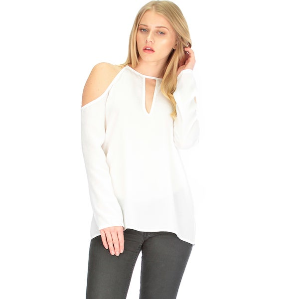 Cold Shoulder Blouse Top